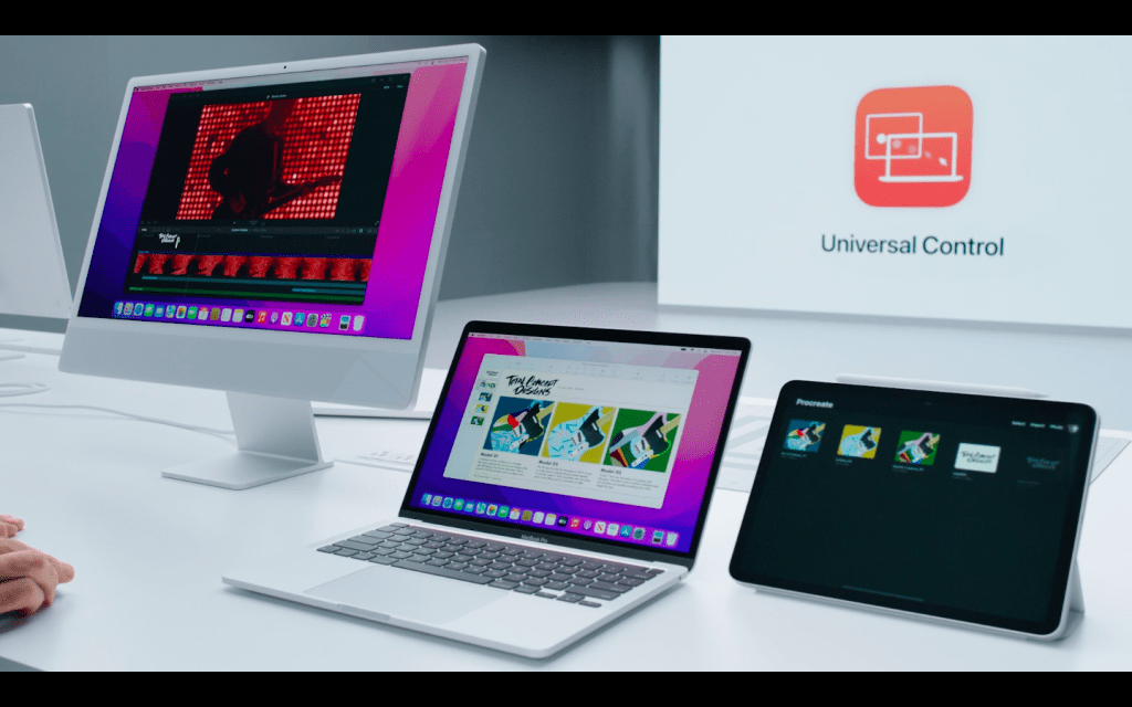 Apple announced Universal Control for Mac OS Monterey
